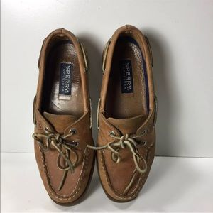 Woman's Sperry Top Sider Boat shoes 7 Sahara A/O